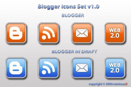 Графика для блога. Blogger Icons Set Pack
