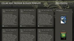 Шаблон XML темы Cellar Heat для Blogger
