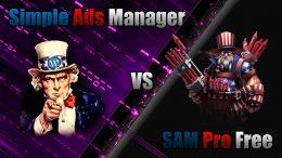 Simple Ads Manager против SAM Pro (Free Edition)